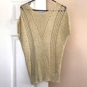 Bebe gold Short sleeve tunic sweater